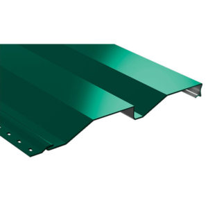 Корабельная доска металлический сайдинг зеленый 6005