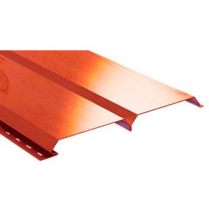 Lбрус металлический сайдинг Ecosteel кедр