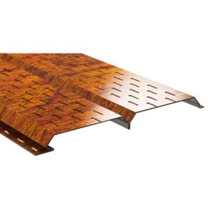 Lбрус металлический софит Ecosteel золотой дуб