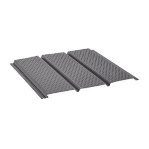 Aquasystem металлический софит с полной перфорацией Polyester серый 23