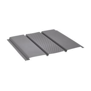 Aquasystem металлический софит с центральной перфорацией Polyester серый 23