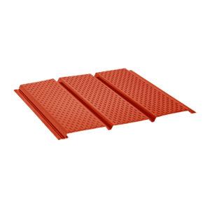 Aquasystem металлический софит с полной перфорацией Pural красный 29