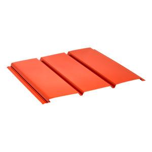 Aquasystem металлический софит без перфорации Pural красный 29
