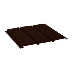 Aquasystem металлический софит с полной перфорацией Pural темно-коричневый 32