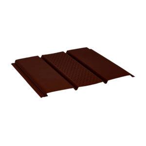Aquasystem металлический софит с центральной перфорацией Polyester коричневый 8017