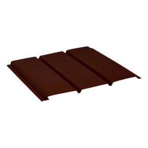 Aquasystem металлический софит без перфорации Polyester коричневый 8017
