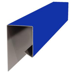 Планка J-профиля 24х18х2000 синий 5005