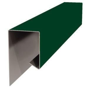 Планка J-профиля 24х18х2000 зеленый 6005