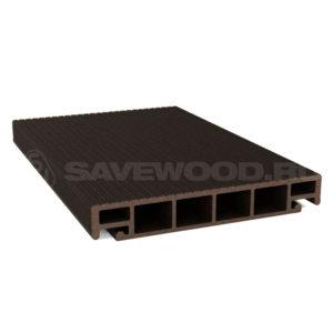 Террасная доска Savewood Salix темно-коричневый