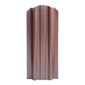 Металлический штакетник Эконом 106 мм коричневый