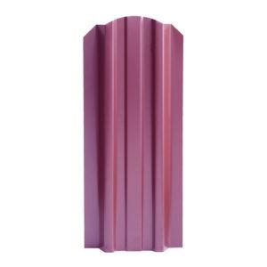 Металлический штакетник Эконом односторонний 106 мм вишня