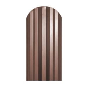 Металлический штакетник М-образный 113 мм коричневый