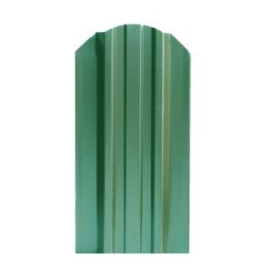 Металлический штакетник 124 мм зеленый