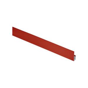 Планка завершающая сложная L-брус 3 метра красный 3011