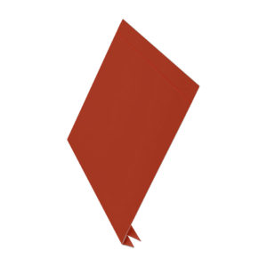 Планка J-фаска металлическая L-брус 2 метра красный 3011