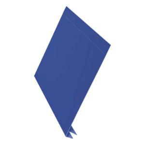Планка J-фаска металлическая L-брус 2 метра синий 5005