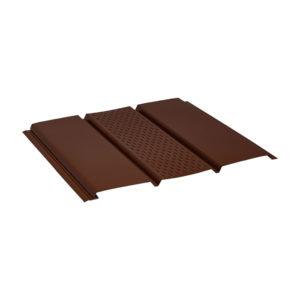 Aquasystem металлический софит Pe коричневый 8017