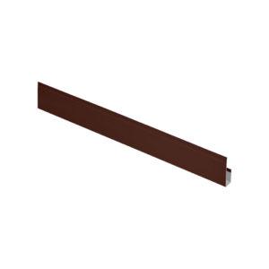 G-планка алюминиевая 2 метра Aquasystem коричневый