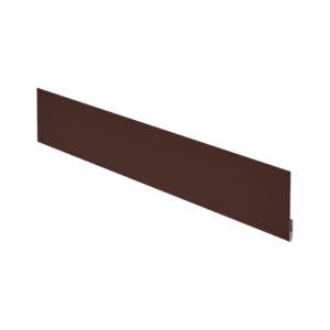Финишная планка металлическая 2 метра Aquasystem Pe коричневый 8017