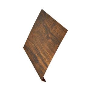 L-профиль металлический 2 метра Aquasystem Printech темное дерево