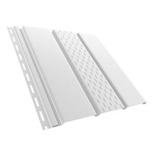 Grand Line пластиковый софит с перфорацией белый