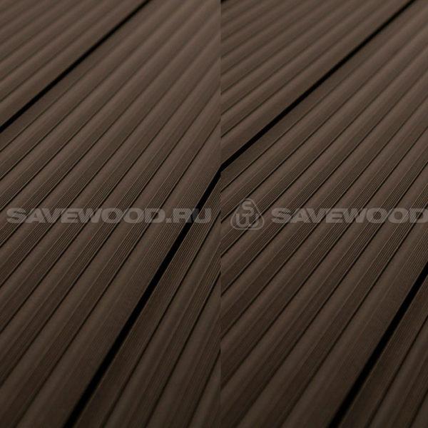 Террасная доска двухсторонняя Savewood Quercus коричневый