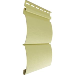 Tecos сайдинг Двойной оцилиндрованный брус светло-желтый