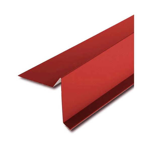 Планка торцевая для битумной черепицы красный