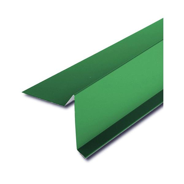 Планка торцевая для битумной черепицы зеленый