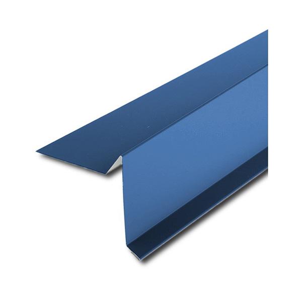 Планка торцевая для битумной черепицы синий