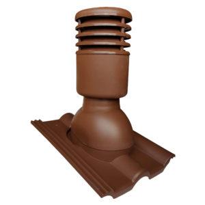Вентиляционный выход 125/110 Euorovent Warm коричневый