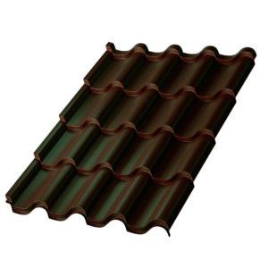 Металлочерепица МП Монтерроса темно-коричневый