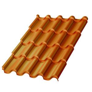 Металлочерепица МП Монтерроса медный Copper AGNETA