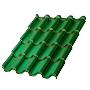 Металлочерепица МП Монтерроса зеленый