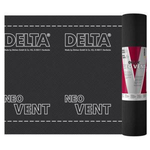Универсальная диффузионная мембрана DELTA-NEO VENT для монтажа на утеплитель или сплошной настил для гидроизоляции кровли