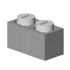Комплект блок-опора Schiedel UNI двухходовой с вентиляцией