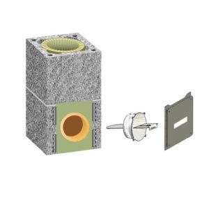 Комплект шибера Schiedel UNI одноходовой без вентиляции