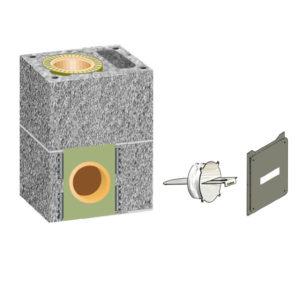 Комплект шибера Schiedel UNI одноходовой с вентиляцией