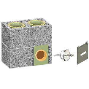 Комплект шибера Schiedel UNI двухходовой без вентиляции