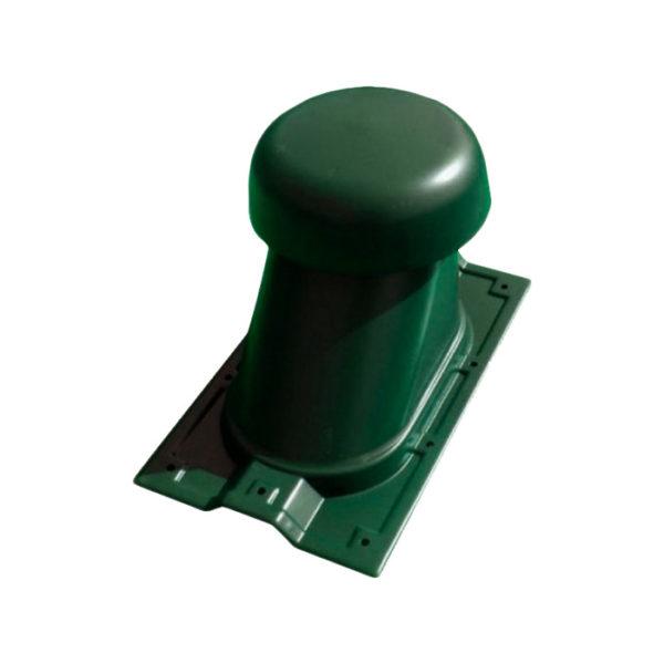 Выход универсальный МП Ø110/200 на профнастил МП-20 зеленый