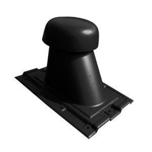 Выход универсальный МП Ø110/200 на профнастил С-8 черный