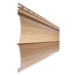 Tecos сайдинг Двойной оцилиндрованный брус Natural wood effect канадский дуб