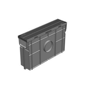 Комплект Gidrolica Light DN90 пескоуловитель пластиковый с решеткой пластиковой