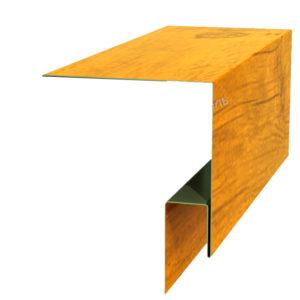 Планка откоса сложная 3D 245х75х2000 Ecosteel золотой дуб