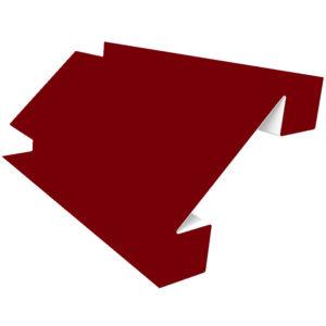 Планка угла внутреннего сложного 75х3000 Полиэстер вишня 3005