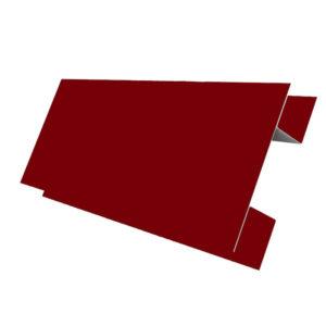 Планка стыковочная сложная 75х3000 Полиэстер вишня 3005