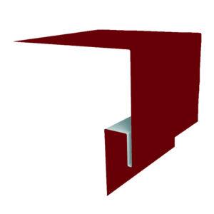 Планка откоса сложная 3D 245х75х2000 Полиэстер вишня 3005