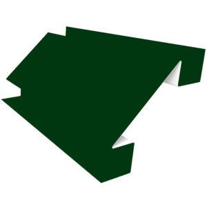 Планка угла внутреннего сложного 75х3000 Полиэстер зеленый 6005