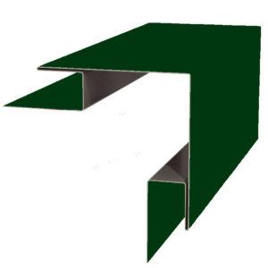 Планка угла наружного сложного 75х75х3000 Полиэстер зеленый 6005