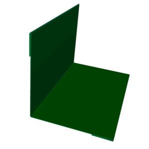 Планка угла наружного/внутреннего 75х75х3000 Полиэстер зеленый 6005